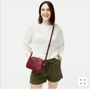 Pointelle crewneck cotton sweater M